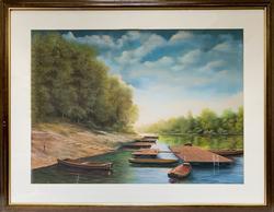 Remete Istvan Original Pastel on Paper