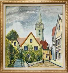 Finely Executed Vivid Mid 20th Century German Painting