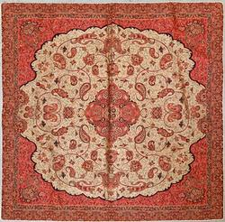 Red Hand Woven Tapestry From Yazd Iran