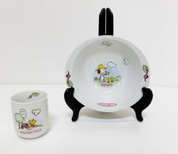 Snoopy RARE Schulz Set Tea Cup and Bowl