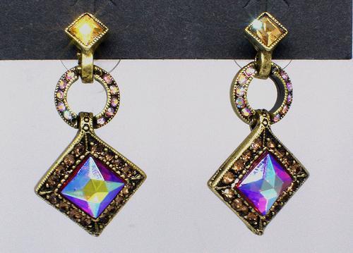 Art Deco Diamond Harlequin Earrings