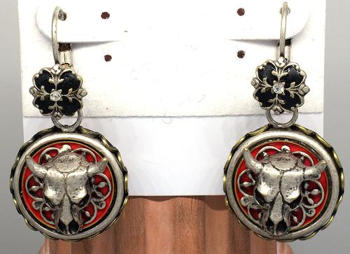 Steer Skull Conchito Earrings