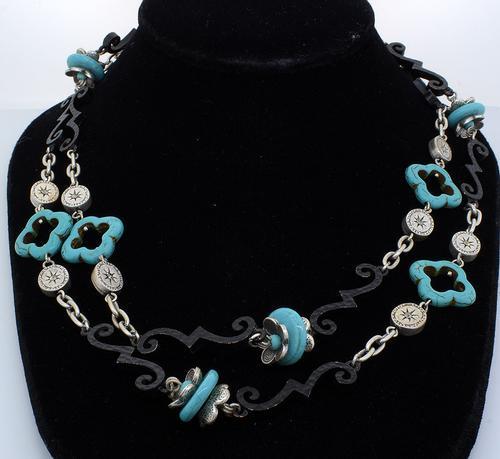 Southwestern Iron Layering Necklace