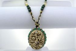 Quan Yin Malachite Garden Necklace