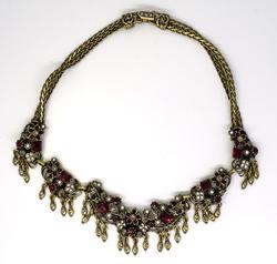 Stunning Somerset Garnet Statement Necklace