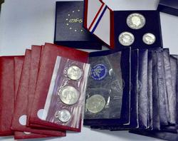 1970's US Mint BU Silver Coinage Packs