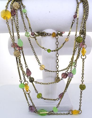 Gemstone Garden Multi Strand Necklace