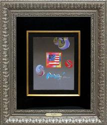 Peter Max, Flag with Heart