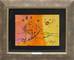 Peter Max, Cosmic Beauty Watercolor