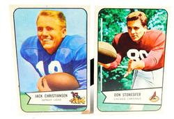 2 Bowman 1954 Football Cards