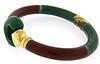 Red and Green Enamel Bracelet