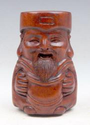 Hand carved boxwood Japan netsuke