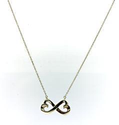 Tiffany & Co Double Loving Heart Infinity Necklace