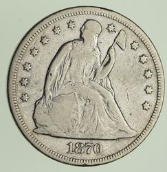 1870 Seated Liberty Silver Dollar - Circulated