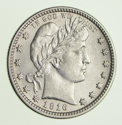 1916-D Barber Quarter Sharp