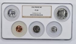 PF68 5 Coins 1964 Proof Set - NGC Graded
