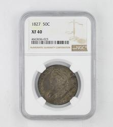 XF40 1827 Capped Bust Half Dollar - NGC Graded