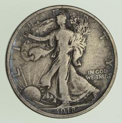 1918-D Walking Liberty Half Dollar - Circulated
