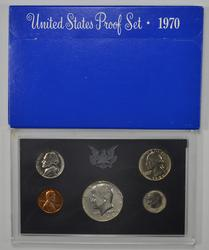 5 Coins - 1970 United States Proof Set - No S Dime - Set