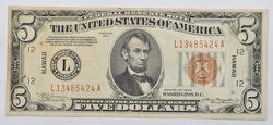 Series 1934 $5 Hawaii Federal Reserve Note