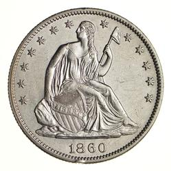 1860 Seated Liberty Half Dollar - Choice