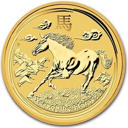 Australian Series II Lunar Gold 2 Ounce 2014 Horse