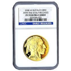 Certified Proof Buffalo Gold Coin 2008-W PF70 UC ER