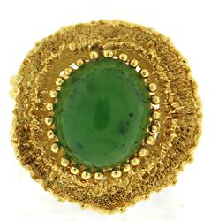 Gorgeous Natural Green Jade Ring