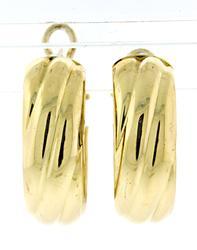 Nice Twisted Hoop Earrings