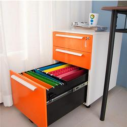 3 Drawers Mobile File Cabinet Metal Solid Storage