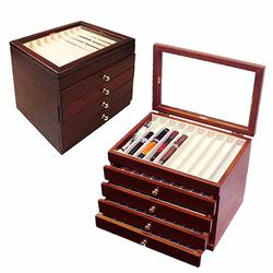 Pen Display 5 Layers Luxury Wooden Box Fountain Pen