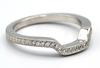 Platinum Diamond Halo Millgrain Bridal Set