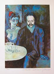 Pablo Picasso, Couple At Caf?