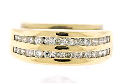 Gents Double Row Diamond Band Ring