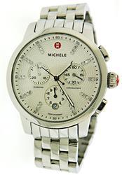 Michele Uptown .12ctw Diamond White Dial Watch