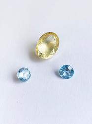 Jewelers Lot! Natural Blue Topaz & Citrine- 29.0 CTW