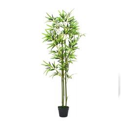 Artificial Bamboo Plant with Pot 59 inches Green