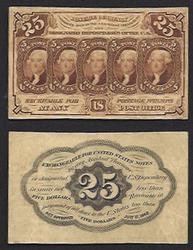 First issue of Fractional Currency 25 Cent Fr. 1282