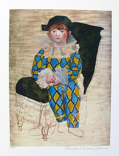 Pablo Picasso, Paul As Harlequin