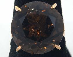 Huge Smokey Quartz Ring in Gold