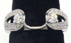 Diamond Ring Wrap in White Gold