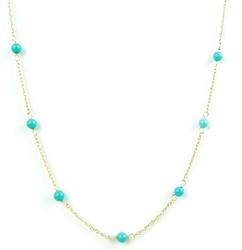 14K Turquoise Bead Necklace