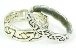 2 Sterling Silver Irish Celtic Rings