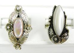 2 Ornate Sterling Silver Navajo Rings