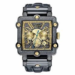 Diamond JBW Mens Watch, Black IP, Sapphire