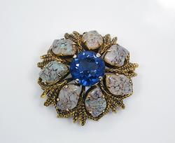 Stunning 1964 Christian Dior Couture Domed Pin Brooch