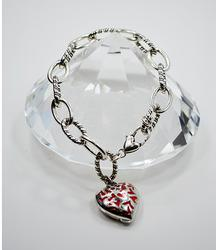 Brighton Silver Plated Chain Bracelet With Heart Locket