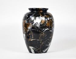 Stunning Large Black, Brown and White Marble Vase
