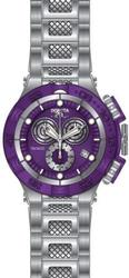 New Mens Invicta Chronograph, Purple Dial, Swiss