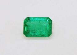 Radiant Natural Emerald - 0.83 ct.